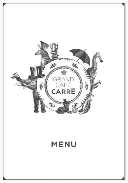 Menu Carré Café
